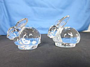 Bunny Rabbit Mini Candle Holder Pair