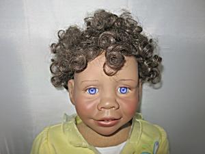 Lee Middleton Amanda Doll African Rare Purple Eyes (Image1)