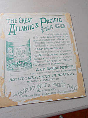 Atlantic and Pacific Tea Co. Advertising (Image1)