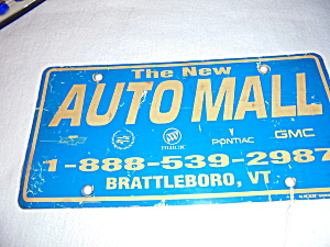 Auto Mall License Plate Advertising