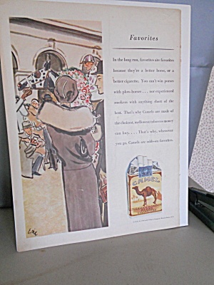 Camel Cigarettes Advertising Sheet (Image1)