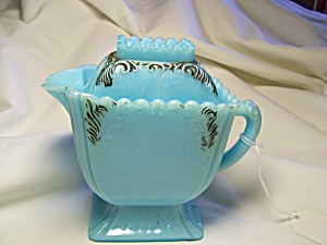 Westmoreland Blue Milk Glass Covered Creamer (Image1)
