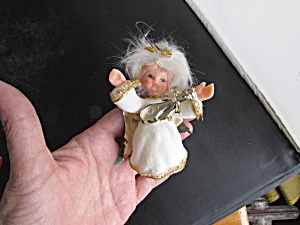 Plastic Felted Angel With Ukulele