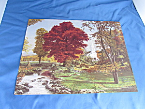 Robert Boares Print Arthur A. Kaplan Co. Autumn Fall