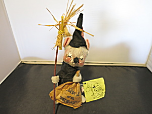 Annalee Doll Halloween Witch Mouse Tagged 1977 89