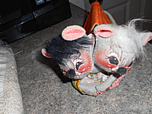 Vintage 1977 Annalee Camping Mice Dolls