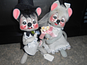 Annalee Bride And Groom Dolls