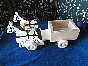 Amish Horse Cart Pull Toy Elwood Craft 2006-03