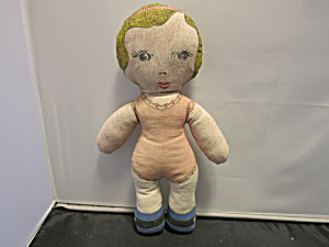 Printed Cloth Stuffed Doll 1960s To 1970s