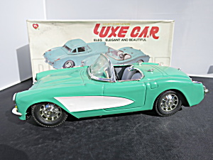 Scale Luxe Car Teal 1957 Corvette Convertible Mib