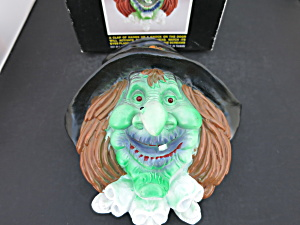 Halloween Witch Head Door Plaque Sound Activated