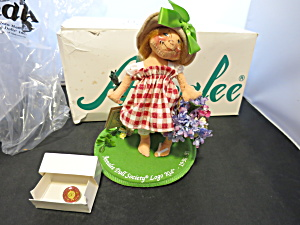 Annalee Doll Little Mae Flowers Logo Kid 96 97 With Pin