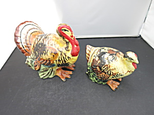 Vintage Turkey Salt And Pepper Shakers Japan Label