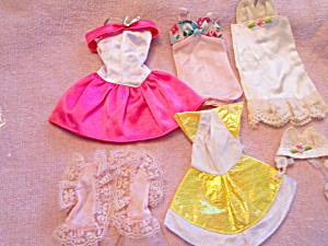Barbie Doll Clothes Lot of 6 Dresses etc (Image1)