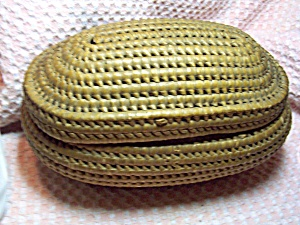 Native American Coil Weaved Basket with cover (Image1)