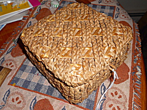 Arts and Crafts Braided Woven Sampler Basket  (Image1)