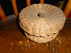 Native American Indian Woven Round Basket (Image1)