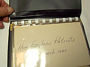New England Patriots Autograph March 1990