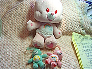 Care Bear Cheer Bear And Two Zipper Pulls