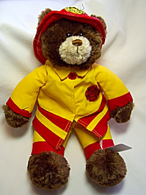Gund Teddy Bear Fireman Fire Chief 1986 (Image1)