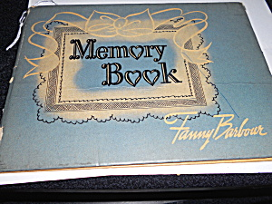 Fanny Barbour Memory Book 1940