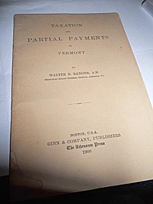 Taxation and Partial Payments in Vermont 1900 (Image1)