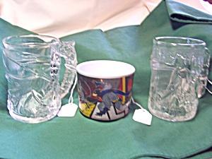 Batman Robin 1995 McDonalds Cups plus 1 other (Image1)