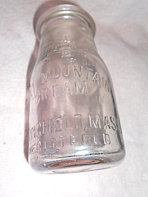 Ball Mountain Cream Bottle Springfield Mass (Image1)