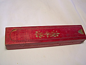 Wood school pencil box case Fountain Pen (Image1)