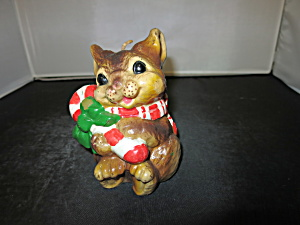 Vintage Bunny Candle Christmas Candy Cane 1970s