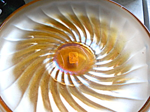 Carnival Glass Bowl W/ Swirled Pattern
