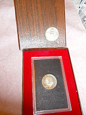 Eisenhower Proof Dollar In Case With Box