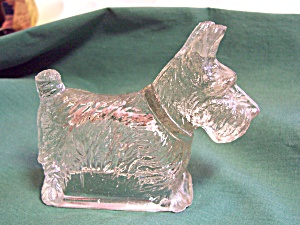 Scottie Dog Candy Container Depression Glass