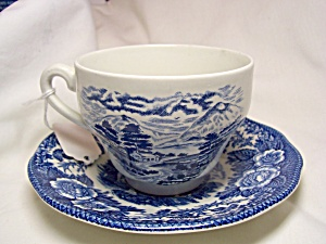 Royal Warwick Lochs Of England Cup Saucer