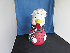 Chicken Eat Veggies Treat Jar Cookie Jar (Image1)