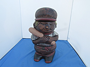 Vintage Baseball Player Cookie Jar California Originals