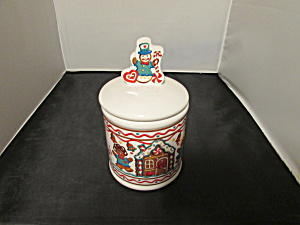 Teleflora Snowman Gingerbread Man Cookie Jar Treat Jar