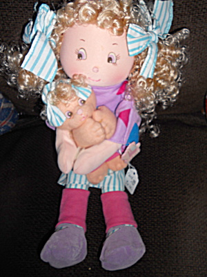 Cloth Doll Holding Kitty, Applause (Image1)