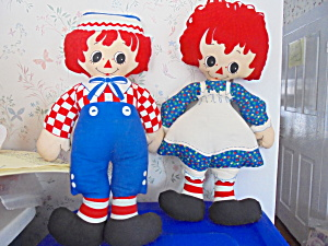 Raggedy Ann and Andy Doll 1982 Bobbs Merrill  (Image1)