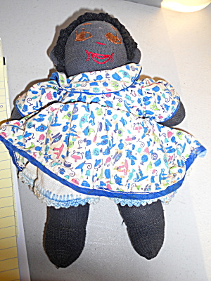 African American Cloth Sock Doll  (Image1)