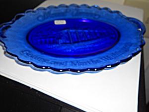 Avon Mount Vernon Platter Cobalt Blue Glass (Image1)