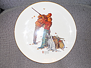 Norman Rockwell Collector Plate Careful Aim