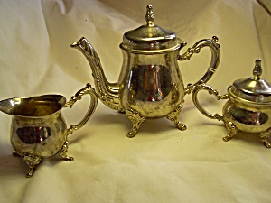 Godinger Silver Art Co Tea Set Silver Plated for Doll play (Image1)