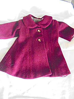 Dolls Wool Lined Coat Hand Made 1950s (Image1)
