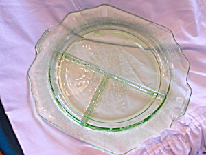 Anchor Hocking Green Princess Grill Plate