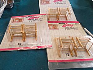 Dollhouse Dining Room Chairs 6 Total