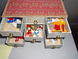Dollhouse Miniatures In Vintage Box