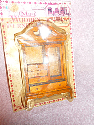 Dollhouse Armoire Wood In Package By Crest
