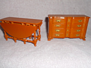 Dollhouse Table And Buffet Ideal Louis Marx