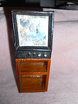 Dollhouse Television Bookcase Wood